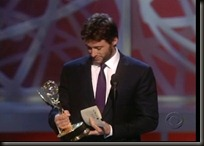 Recibiendo su preio Emmy