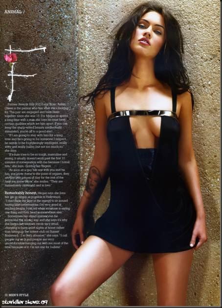 Megan-Fox-con-un-sexy-vestido-negro